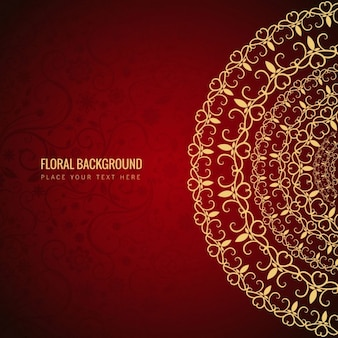 Fond rouge floral