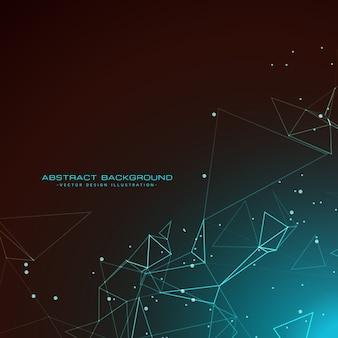 Fond technologie étonnante avec des fils numériques mesh