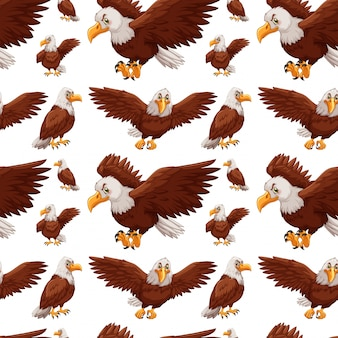 Fond transparent avec des aigles volant