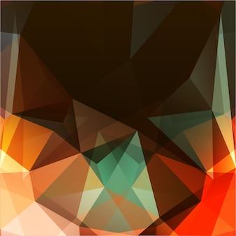 Fond triangulaire abstrait avec des couleurs chaudes
