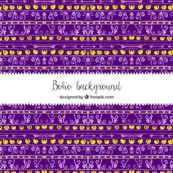 Fond violet de formes ethniques aquarelles