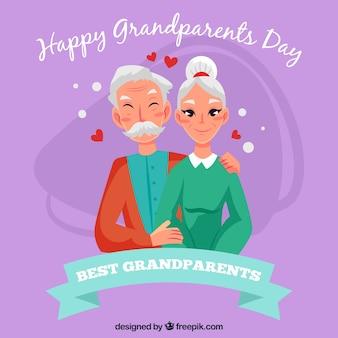 Fond violet du jour des grands-parents