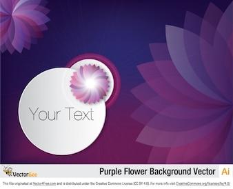 Fond violet floral avec des fleurs abstraites