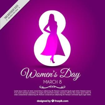 Fond violet pour la journée des femmes