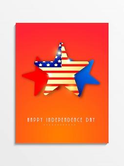 Fondation de l'indépendance des USA avec des étoiles