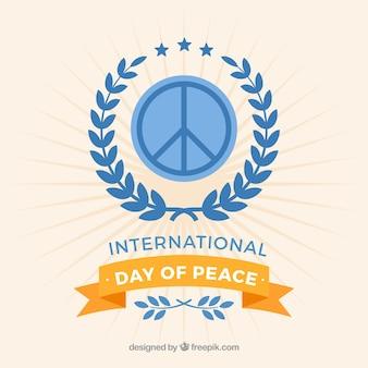 Fondation internationale de la journée de la paix avec symbole