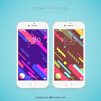 Fonds d'écran mobiles de memphis colorés