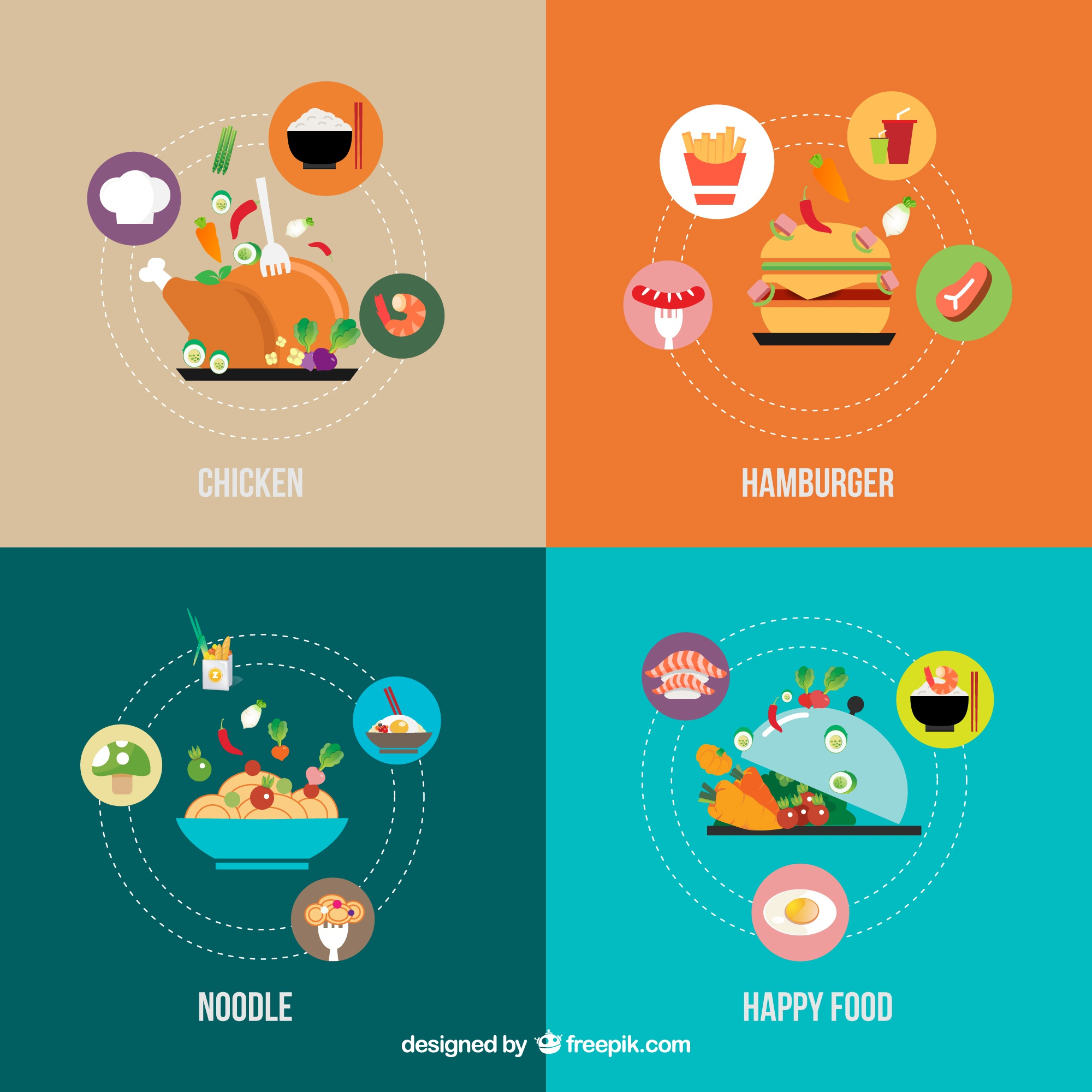 Food icons infographie