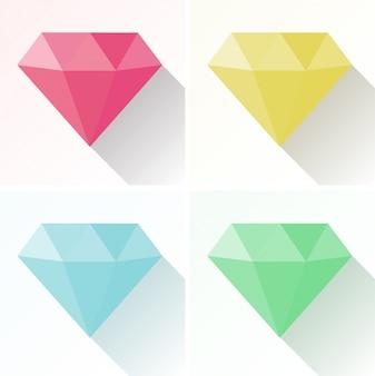 Forme de diamant en quatre couleurs différentes