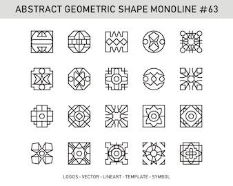 Forme géométrique abstraite n ° 63
