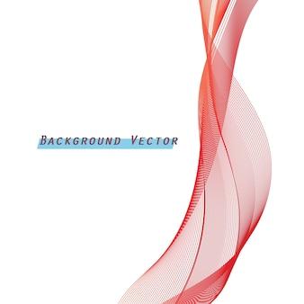 Formes abstraites de ruban rouge avec fond blanc