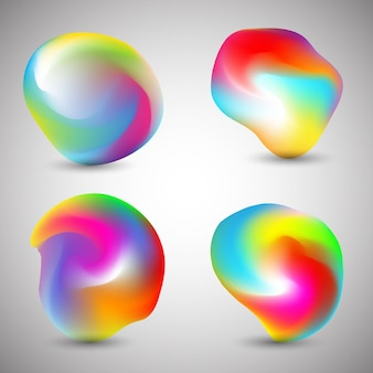 Formes colorées abstraites