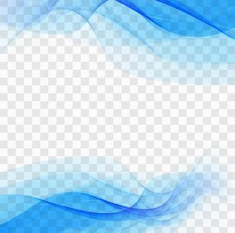 Formes ondulées bleues sur un fond transparent