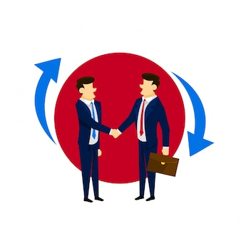 Forte relation client Relations commerciales Illustration