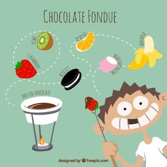 founde de chocolat