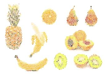 Fruits pixelés