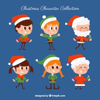 Fun variété de personnages de Noël