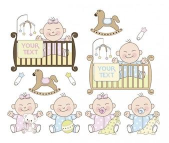 Garçon et fille baby shower