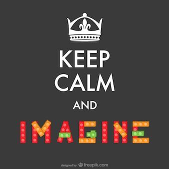 Gardez le calme imaginer affiche