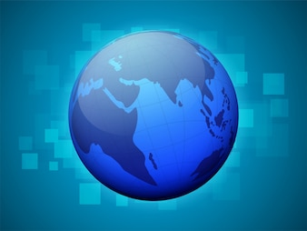 Globe terrestre sur fond abstrait.