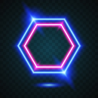 Glow hexagone background