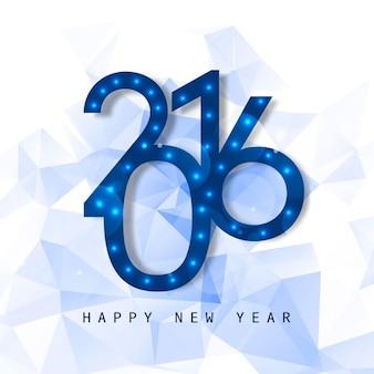 Glowing nouvelle année 2016 voeux