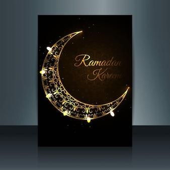 Glowing Ramadan Kareem dépliant