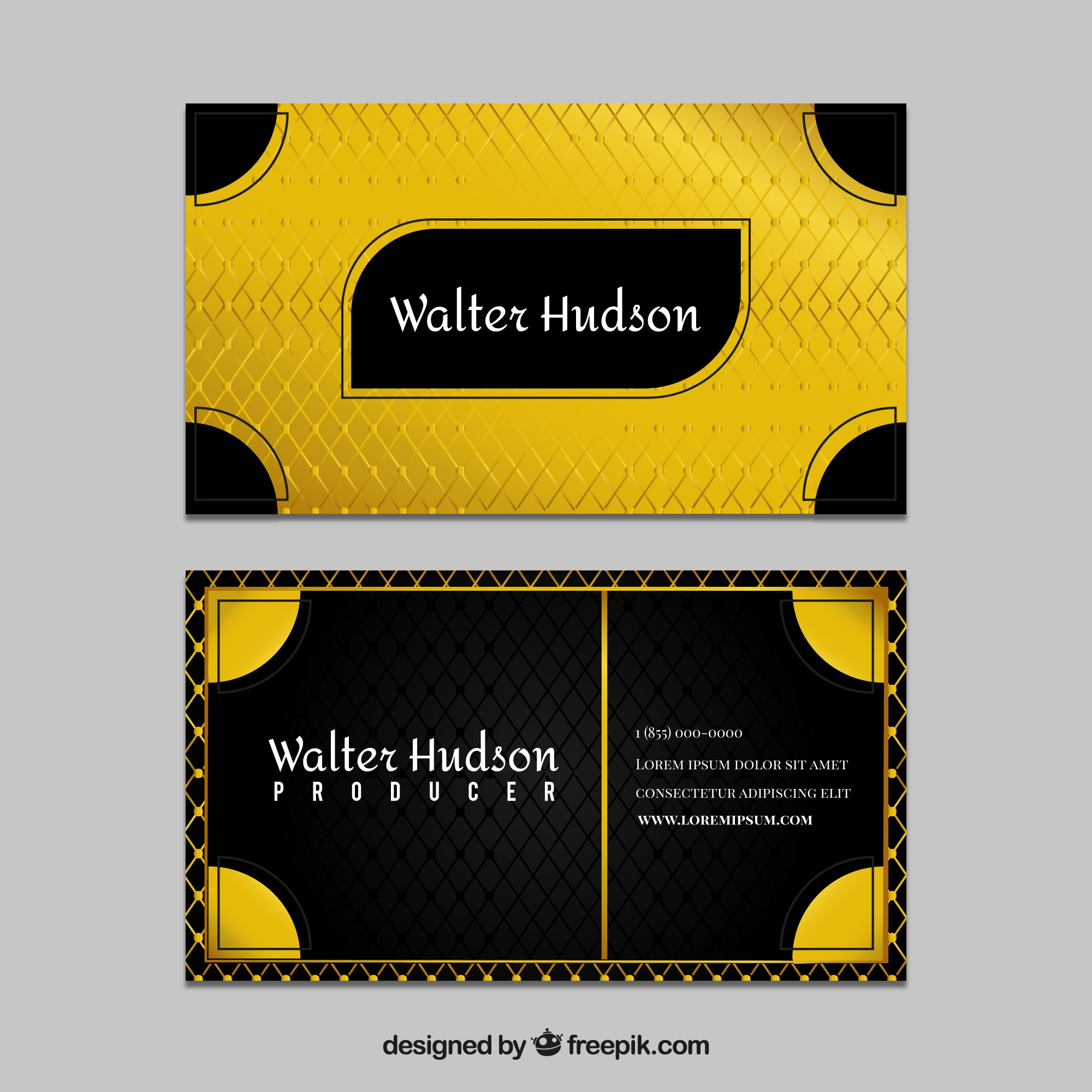 Golden abstract business card