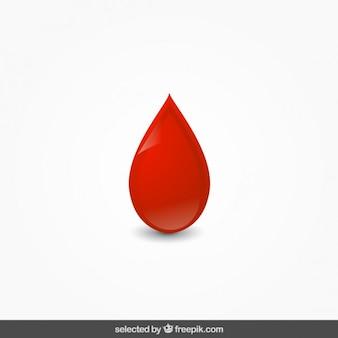 Goutte de sang isolé