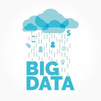 Grande illustration vectorielle de nuage de données