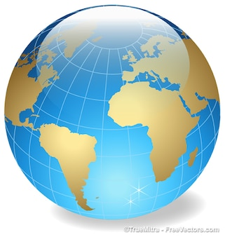 Grande sphère terrestre cristal