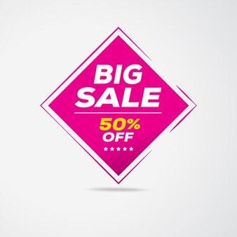 Grande vente, offre spéciale 50% de réduction, étiquettes de vente, étiquettes de vente, label de vente, illustration vectorielle.