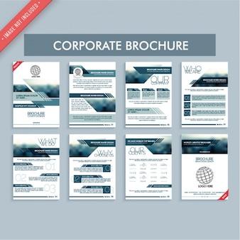 Grands brochures d'entreprise