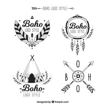 Grands logos dans le style boho