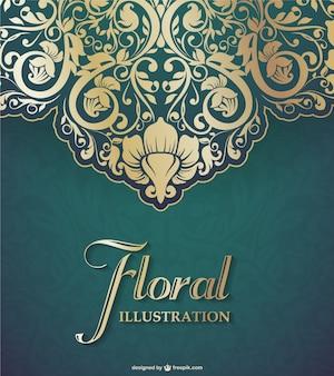 Graphique de vecteur floral