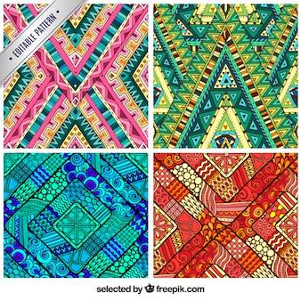 Gravures abstraites colorées