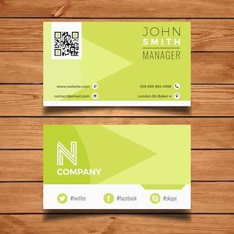 Green clean business card