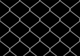 Grille métallique grise sur fond noir