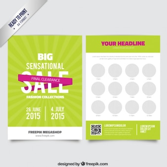 Grosse brochure de vente internationale