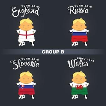 Groupe joueurs de football b