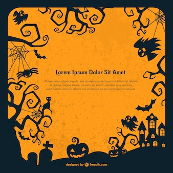 Grunge Halloween fond