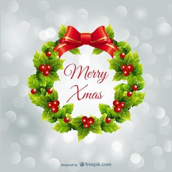 Guirlande de houx pour Noël
