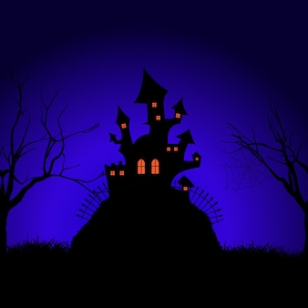 Halloween château fantasmagorique