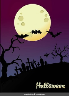 Halloween cimetière paysage