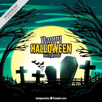 Halloween fond du cimetière