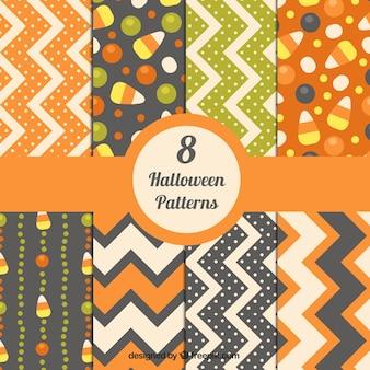 Halloween motifs abstraits