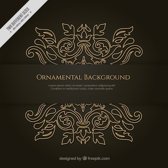 Hand drawn fond ornemental or