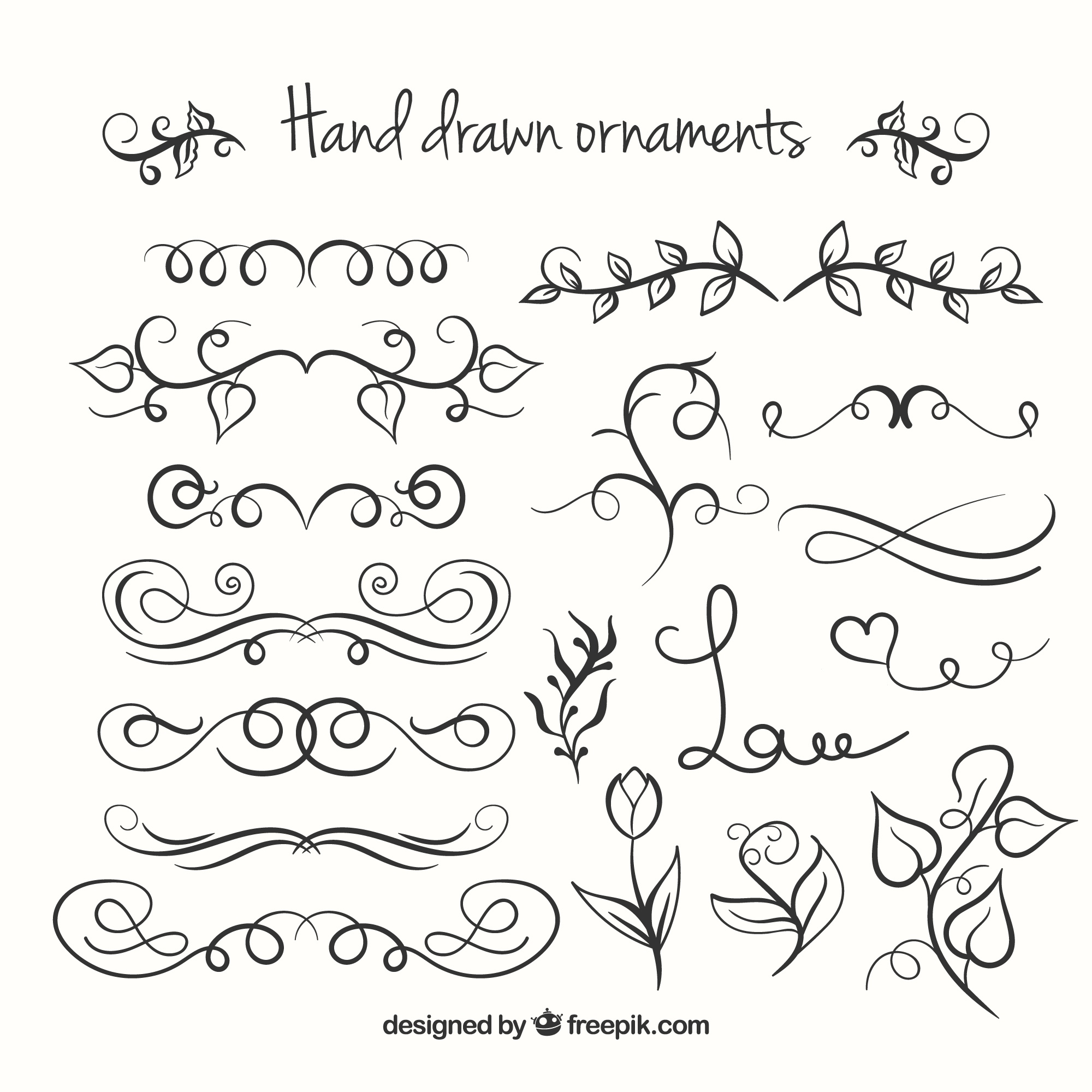 Hand Drawn Ornements Collection