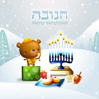 Hanukkah conception de fond