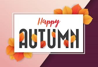Happy Autumn Background Design